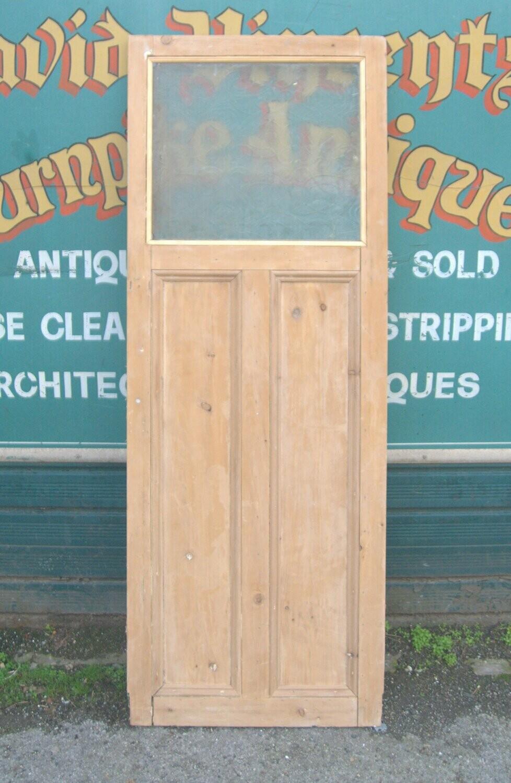 Art Deco 1930's half glazed cupboard door/pantry or airing cupboard