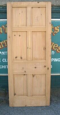 Late Victorian  six panel stripped pine door