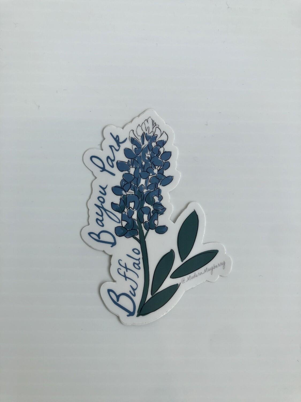 Bluebonnet Buffalo Bayou Park Sticker