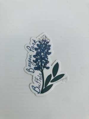 Bluebonnet Buffalo Bayou Park Sticker
