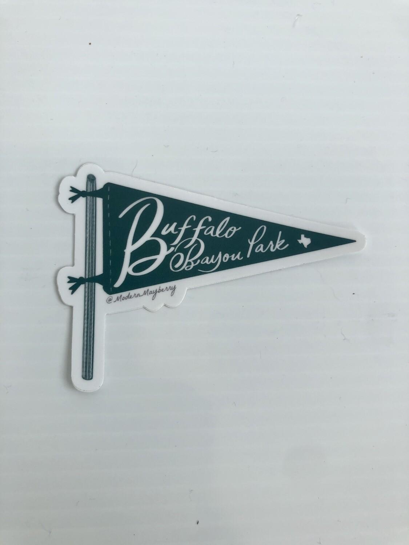 Buffalo Bayou Park Pennant Sticker