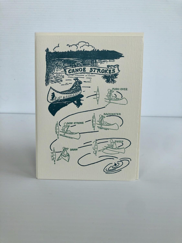 Canoe Strokes Card