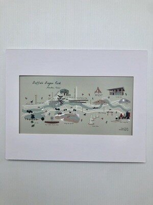 Modern Mayberry Map of BBP Print 11 x 14