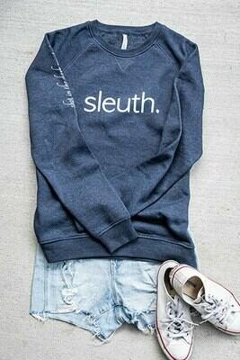 sleuth. Crewneck Sweater - Blue