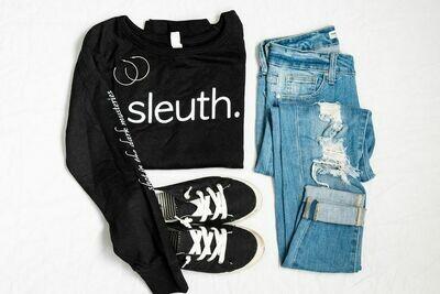 sleuth. Light Weight Crewneck Sweater - Black