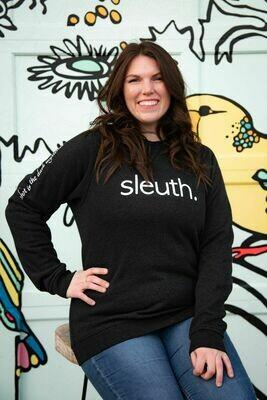 sleuth. Crewneck Sweater - Heather Black