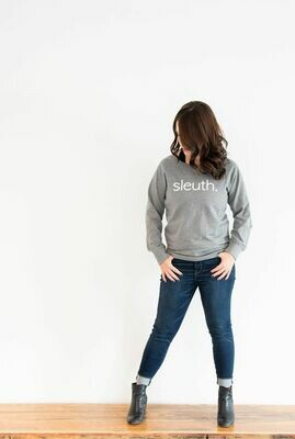 sleuth. Light Weight Crewneck Sweater - Grey