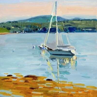 Sailboat  Oil on Panel  12