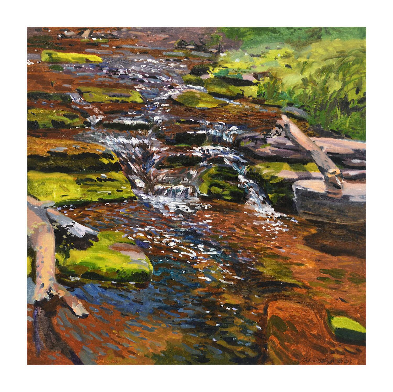 Cascades  oil on canvas  24