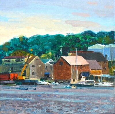 Belfast Waterfront   oil on canvas  12
