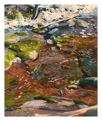 Stream  oil on canvas  24