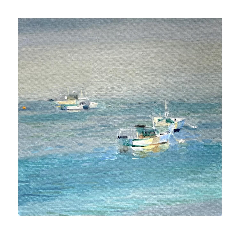 Lobster Fleet in Fog    oil on linen panel  10