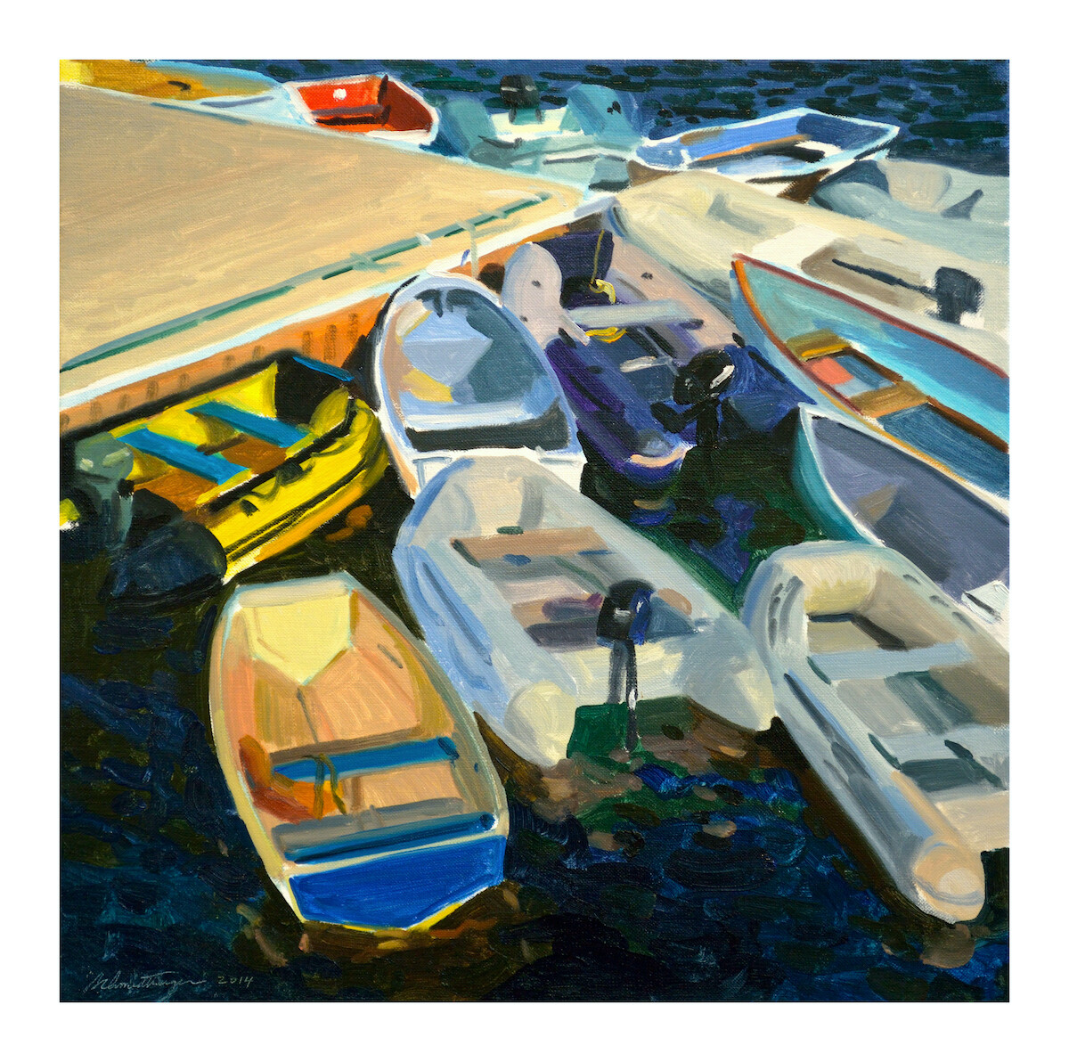 Dinghies  oil on canvas  18