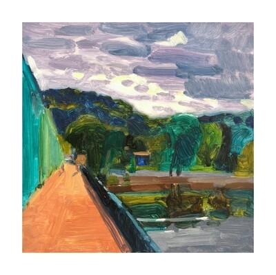 New Hope/Lambertville Bridge  oil on panel 12