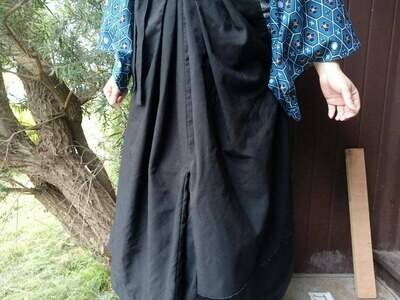 Black Hakama Pant Skirt Hybrid, Made to Fit, Comfortable with Many Outfits! Great Father's Day Gift!