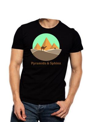 Pyramids & Sphinx black t-shirt