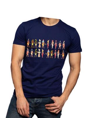 Multi Pharaohs navy t-shirt