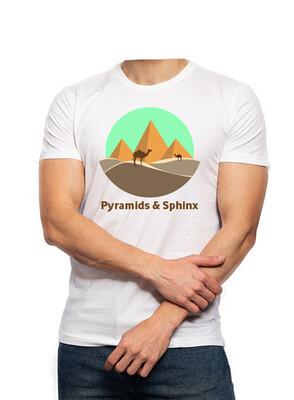 Pyramids & Sphinx white t-shirt