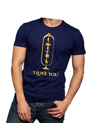 I Love You Cartouche navy t-shirt