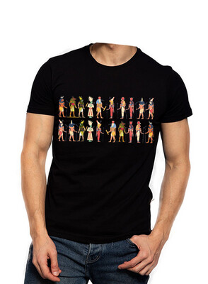 Multi Pharaohs black t-shirt