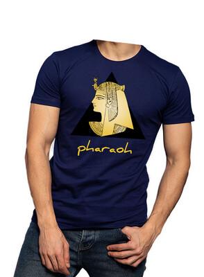 Pyramid & Pharaoh navy t-shirt