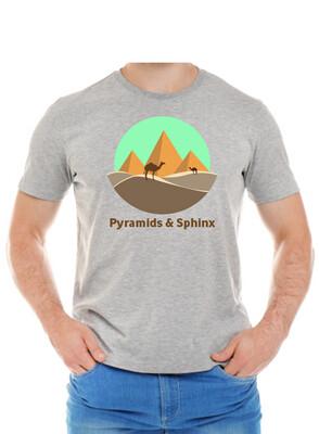 Pyramids & Sphinx gray t-shirt