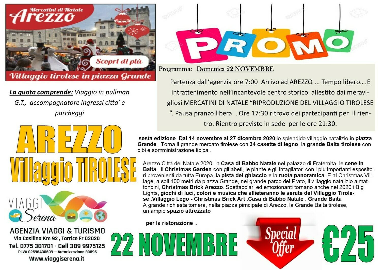 AREZZO VILLAGGIO TIROLESE 22 NOVEMBRE