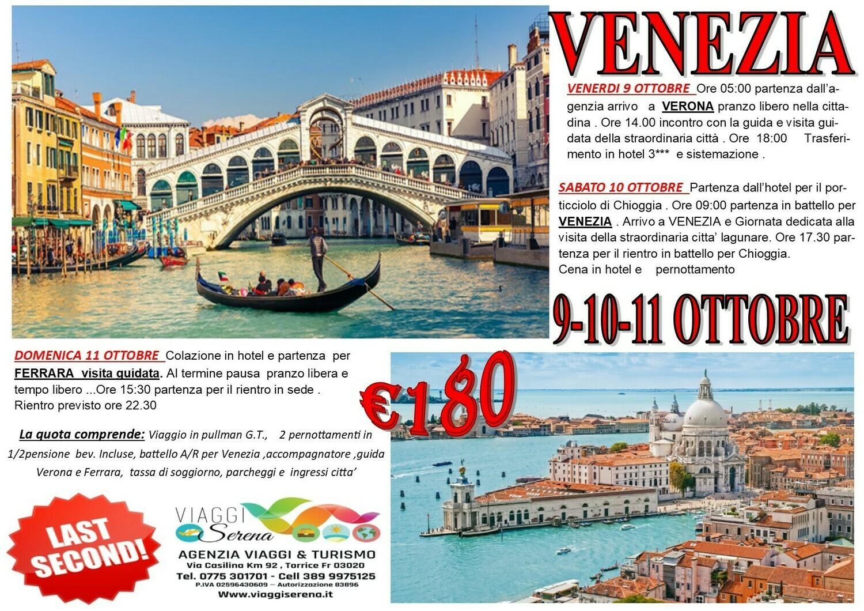 VENEZIA, VERONA & FERRARA 9-10-11 Ottobre