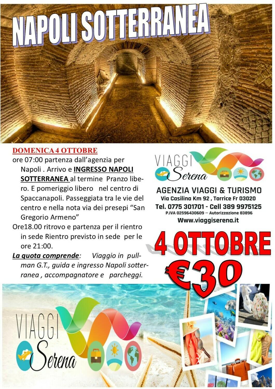 Napoli Sotterranea 4 Ottobre