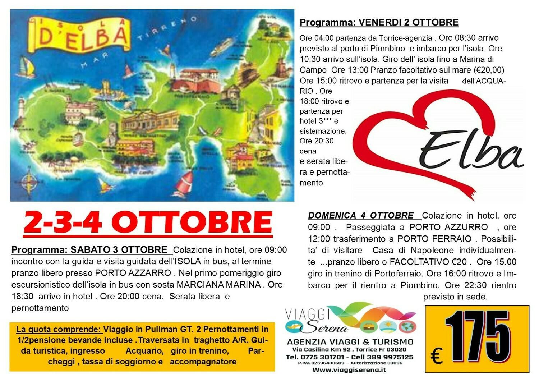 ISOLA D'ELBA 2-3-4 OTTOBRE