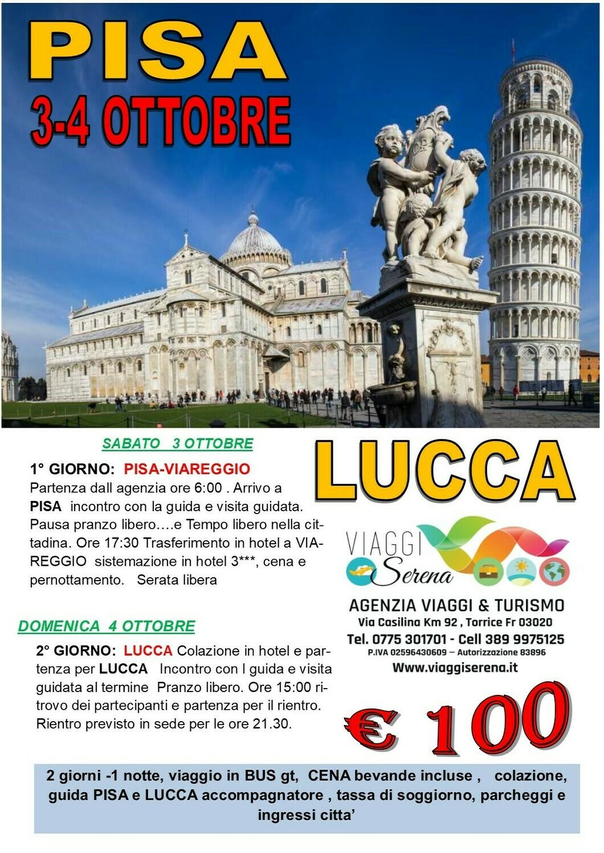 PISA & LUCCA 3-4 Ottobre