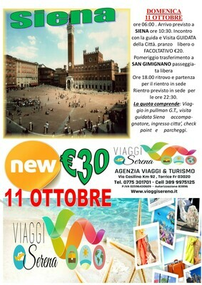 Siena & San Gimignano 11 Ottobre