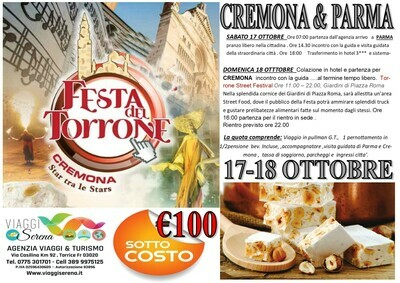 Cremona & Parma 17-18 Ottobre