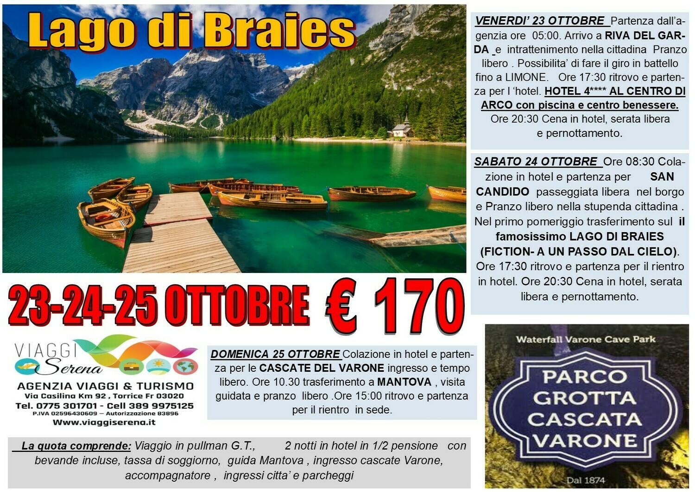 LAGO di BRAIES , Riva del Garda & Cascate del Varone
