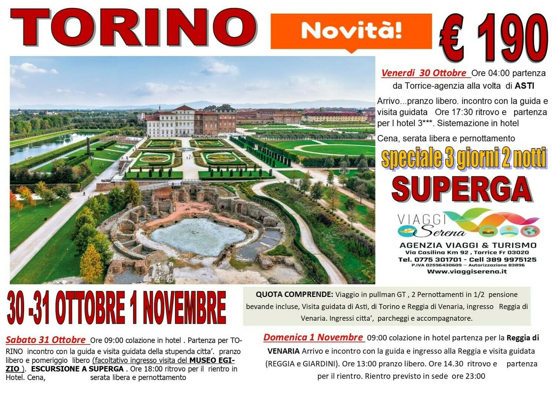 TORINO, ASTI & SUPERGA  30-31 Ottobre & 1 Novembre