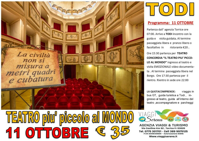 TODI il piu' piccolo Teatro al mondo 11 Ottobre