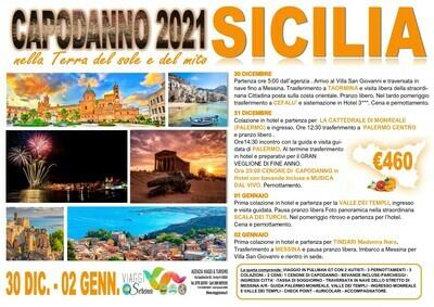 speciale capodanno : Sicilia 30 Dicembre-2 Gennaio