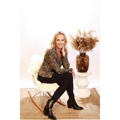 Lara MUSK blazer olijf | Helena Hart