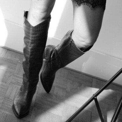 High Cowboy Croco Boots | Juul en Belle
