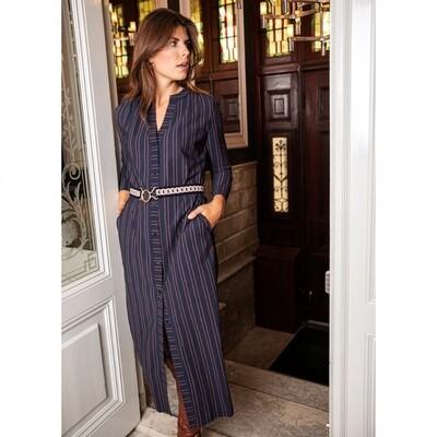 SHELBY pinstripe LS dress | Studio Anneloes