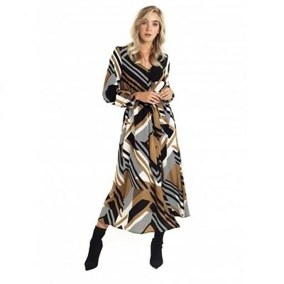 Midi print jurk | Jacky Luxury