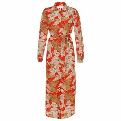 DENISE FLOWER ORANGE dress | Voyar la Rue
