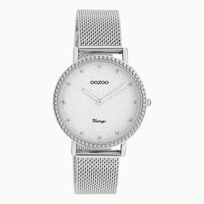 Vintage horloge C20051 zilver | Oozoo