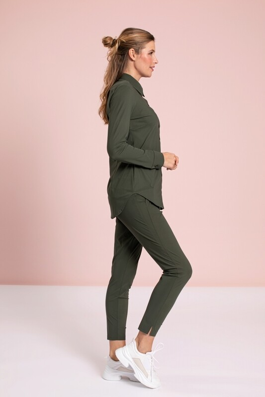 STARTUP TROUSERS GREEN | STUDIO ANNELOES