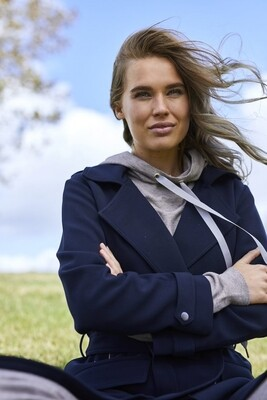 EJA COAT BLUE DEEP | SAINT TROPEZ