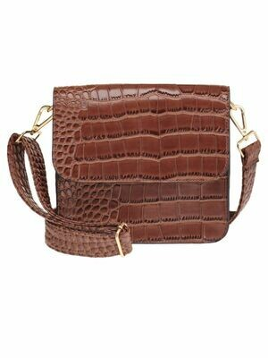 NANCY SHOULDER BAG BROWN | ELVY