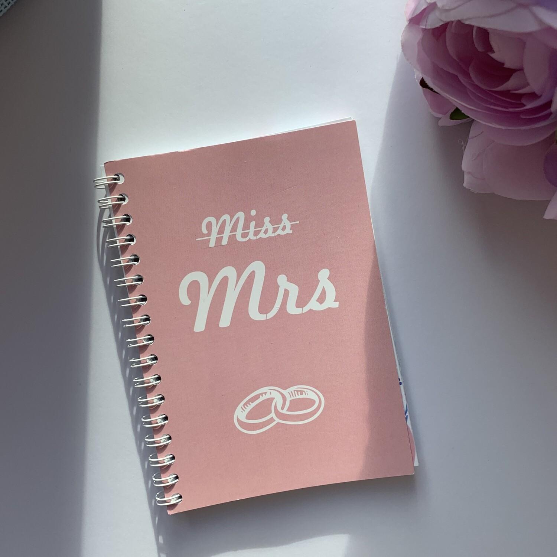 """Свадебный мини-планер """"Mrs"""""""
