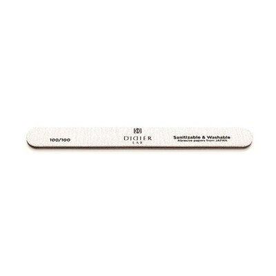 Nail File, straight, SPEEDY ZEBRA, 100/100, Didier Lab