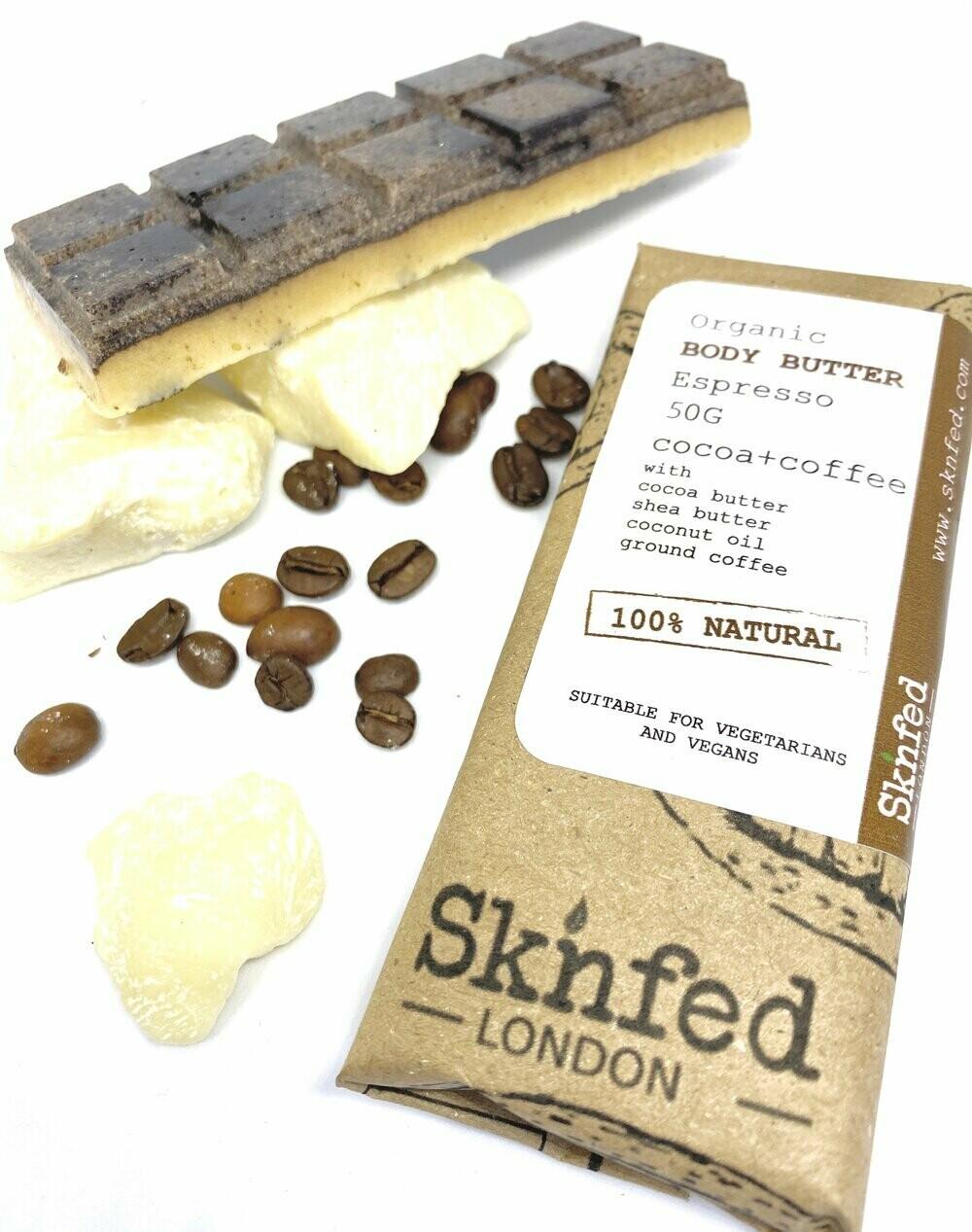 Sknfed Organic Body Butter-Espresso, 50g