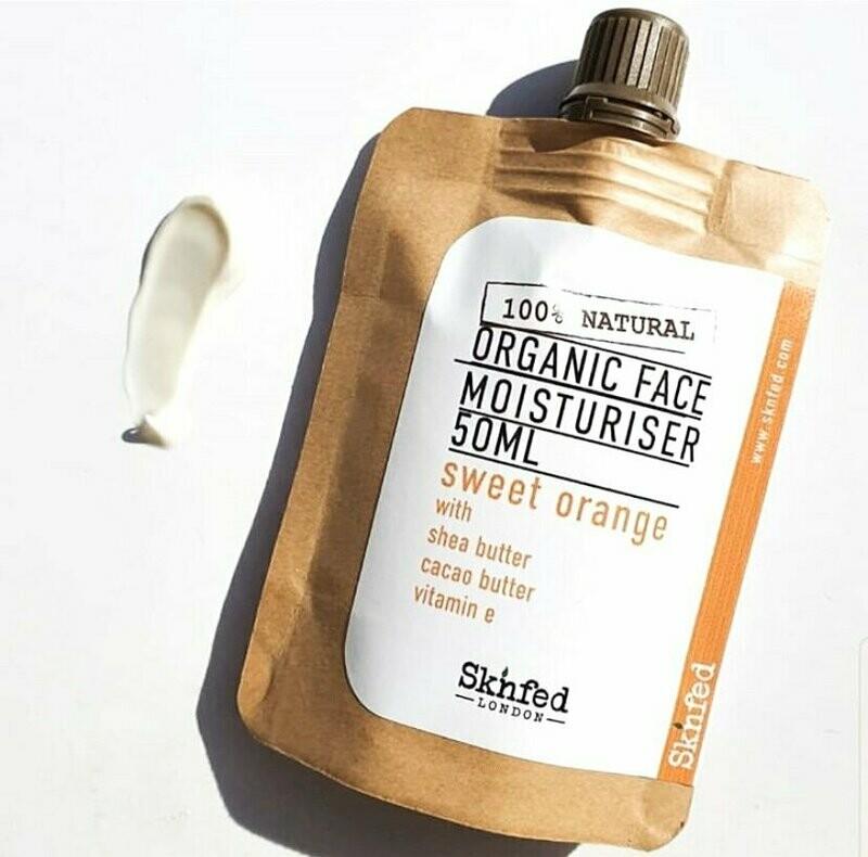 Sknfed Organic Face Moisturiser -Sweet Orange, 50ml